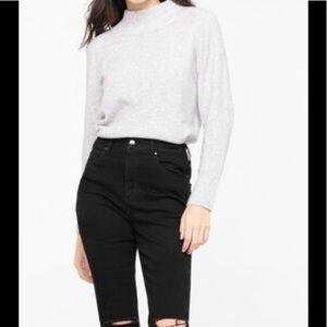 Mock Neck Sweater Light Grey